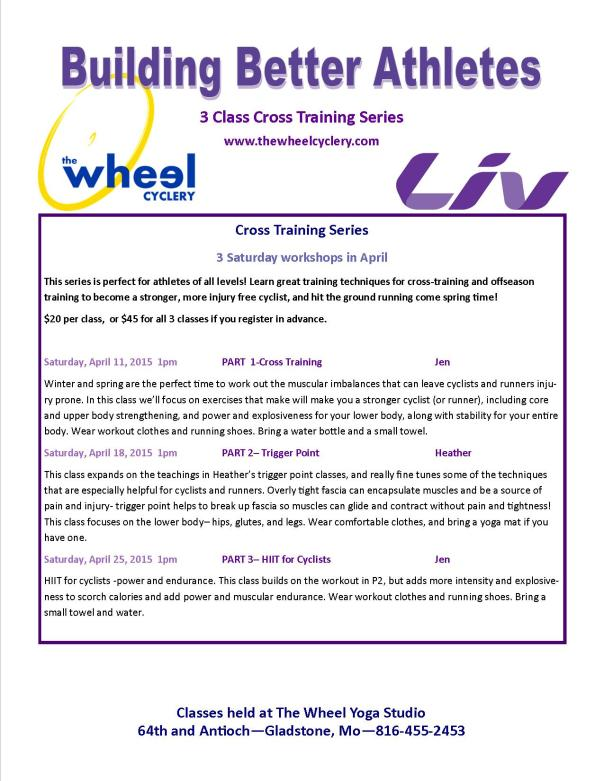 April Training Series poster 3 class